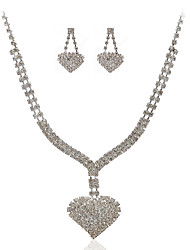 baratos -Mulheres Conjunto de jóias Brincos Colares - Regular Outros Claro Para Casamento Festa Ocasião Especial Aniversário Noivado