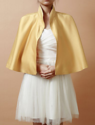 Hoods & Ponchos / Wedding  Wraps Capelets Sleeveless Satin Yellow Wedding / Party/Evening Open Front