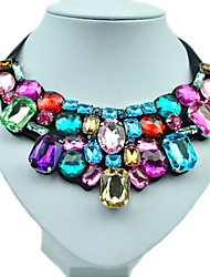 cheap -Women's Synthetic Diamond Bib Statement Necklace - Resin, Rhinestone, Imitation Diamond Fashion, Colorful Necklace For Wedding, Party, Daily