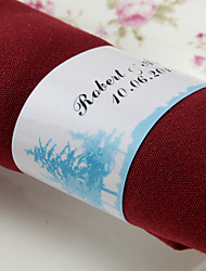 anneau de serviette en papier personnalisé - forêt (lot de 50) réception de mariage