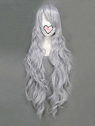 cheap -Cosplay Wigs Fairy Tail Mirajane·Strauss Gray Long Anime Cosplay Wigs 90 CM Heat Resistant Fiber Female