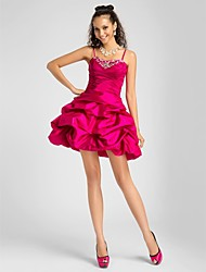 cheap -A-Line Spaghetti Straps Sweetheart Short / Mini Taffeta Prom Dress by TS Couture®