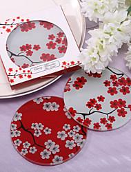 Favores de vidro bonita Sakura Coaster (Conjunto de 2)