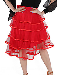 cheap -Latin Dance Skirts Women's Training Tulle Viscose Elegant Style