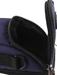 Ripstop poliestere imbottita morbida custodia protettiva borsa per il trasporto con ganci per il sottile per fotocamera Digital Card - blu