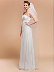 Four-tier Cut Edge Wedding Veil Chapel Veils With 78.74 in (200cm) Tulle A-line, Ball Gown, Princess, Sheath/ Column, Trumpet/ Mermaid