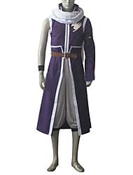 abordables -Inspirado por Fairy Tail Natsu Dragneel Animé Disfraces de cosplay Trajes Cosplay Retazos Chaqueta Pantalones Cinturón Accesorios de