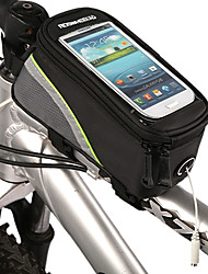 cheap -ROSWHEEL Bike Frame Bag Cell Phone Bag 5.3 inch Waterproof Waterproof Zipper Touch Screen Cycling for Iphone 8 / 7 / 6S / 6