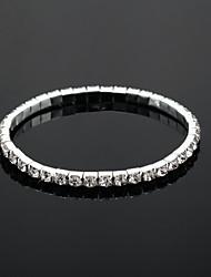 economico -splendente tennis da sposa con strass da donna in elegante lega d'argento