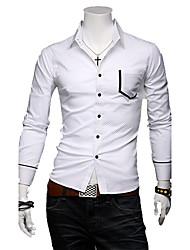 economico -Causale Polka Dot shirt da uomo a maniche lunghe sottile