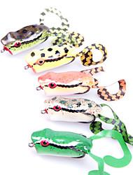 měkká návnada široká ústa dvojháček a ocas měkká návnada žába 50mm 10g (barva náhodně)