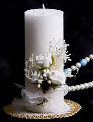 economico -candela colorata con la cerimonia di nozze di nozze di corallo bowknot bella