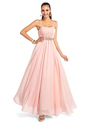 cheap -A-Line Princess Strapless Sweetheart Floor Length Chiffon Formal Evening Dress with Crystal Detailing Draping Criss Cross by TS Couture®