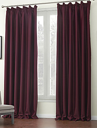 cheap -Two Panels Curtain Modern , Solid Polyester Material Blackout Curtains Drapes Home Decoration For Window