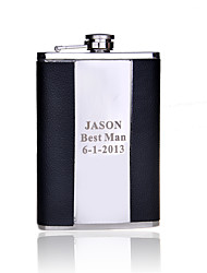 cheap -Stainless Steel Hip Flasks Groom Groomsman Parents Wedding Anniversary Birthday Business