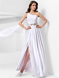 abordables -Una línea de princesa un hombro piso longitud gasa vestido de noche con drapeado por ts couture ®