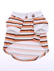 Cani T-shirt Arancione Abbigliamento per cani Estate Primavera/Autunno Righe Casual