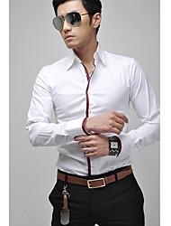 Majica Muškarci Dnevno Jednobojni Dugih rukava Pamuk Poliester