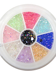 economico -yemannvyou®240pcs 9-colore delle unghie 3 millimetri strass acrilico arte