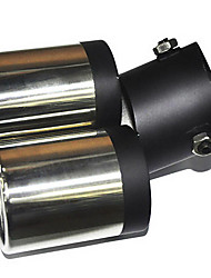Недорогие -Универсальная из нержавеющей стали глушитель выхлопной трубы автомобиля (63mm-Внутренний диаметр) LMC-M-041