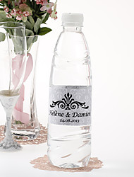 cheap -Personalized Water Bottle Sticker - Regal (Silver/Set of 15)