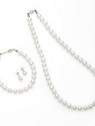 Gioielli Set Per donna Anniversario / Regalo / Festa / Occasioni speciali Parure di gioielli Perle false / Lega Perle falseCollane /