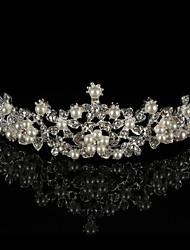 Women's Rhinestone Alloy Imitation Pearl Headpiece-Wedding Tiaras