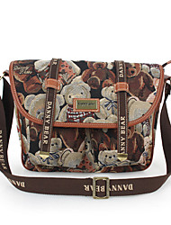 DANNY BEAR Casual Bears Print Crossbody Bag