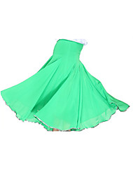 cheap -Ballroom Dance Skirt Women's Training Tulle Knit Natural