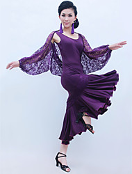 cheap -Ballroom Dance Outfits Women's Training Lace Viscose Ruffles Natural