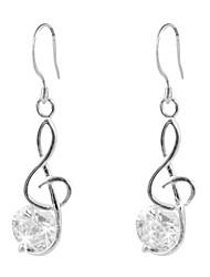 klassiske platinbelagte uregelmæssige cubic zirconia øreringe elegant stil