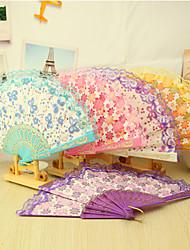 economico -Cotone Ventilatori e ombrelloni-# Pezzo / Imposta Ventagli Floreale 42cmx23cmx1cm 2.4cmx23cmx1cm