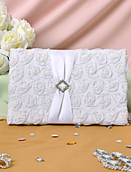 Guest Book Satin Classic Theme Floral ThemeWithPetals Wedding Ceremony