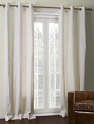 baratos -twopages® dois painéis off-white revestimento sólido cortina térmica