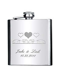 cheap -Groom Groomsman Couple Parents Stainless Steel Hip Flasks Wedding Anniversary Birthday Graduation Thank You Business