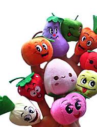 economico -5PCS Frutta & Veggie Peluche Finger Puppets ragazzi parlano Prop (tipi a caso)