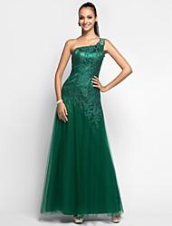 preiswerte -Mantel / Säule ein Schulterboden Länge Spitze Tüll Abschlussball Kleid mit Perlen von ts couture®