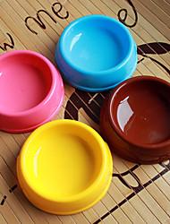 abordables -en forme de cercle en plastique animal bol de nourriture pour chiens chats (assortiment de couleurs, tailles)