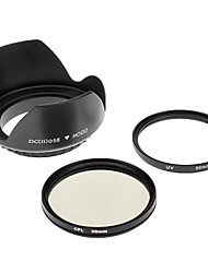 Insten UV + CPL 58mm + PARASOL para CANON S3IS S5 G7 G9 G10 S2 IS