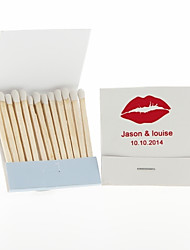 Wedding Décor Personalized Matchbooks Lips-Set of 12 (More Colors)