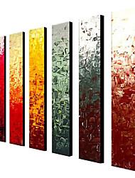 abordables -Pintada a mano Abstracto Clásico Tradicional Pintura al óleo Más de Cinco Paneles