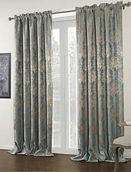 To paneler Vindue Behandling Land 100% Polyester Polyester Materiale Mørklægningsgardin forhæng Hjem Dekoration For Vindue