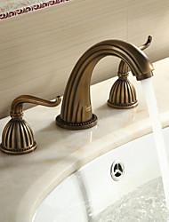 Robinet de salle de bain Sprinkle®  ,  Antique  with  Laiton antique 2 poignées 3 trous  ,  Fonctionnalité  for Séparé