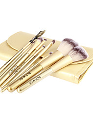 cheap -10pcs Makeup Brushes set Professional Golden Wood Powder/Foundation/Concealer/Blush/Shadow/Eyeliner/Lip/Brow/Lashes Cosmetic Bag