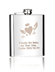 cheap -Groom Groomsman Couple Parents Stainless Steel Hip Flasks Wedding Anniversary Birthday Business
