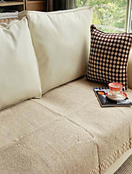 cheap -Cotton Coffee Linen Hemming Sofa Cushion 70*240