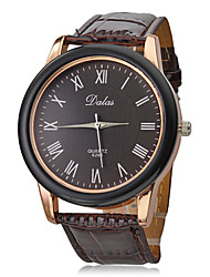 cheap -Men's Dress Watch Japanese Band Brown