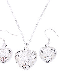 cheap -Women's Jewelry Set - Sterling Silver, Silver Fashion Include For Party Special Occasion Anniversary / Earrings / Necklace