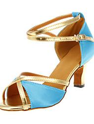 Femininos personalizados incríveis cetim superior sapatos de dança