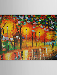 Hand-Painted Landscape / Abstract Landscape One Panel Canvas Oil Painting For Home Decoration